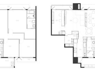 灰與白的律耀:  房子 by 大丘國際空間設計 ABMIDS