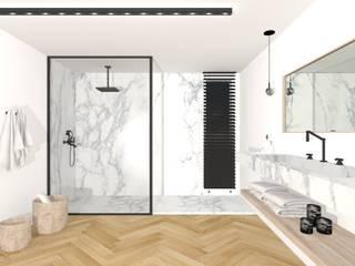 Appartement Haussmannien, Lyon. Salle de bain moderne par Sacha Goutorbe | Architecte d'intérieur Moderne