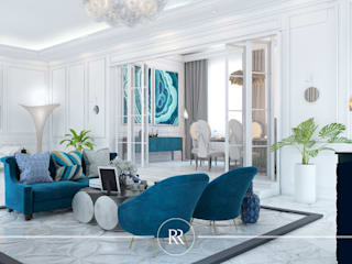 Wimborne White: Гостиная в . Автор – ROSKO Family Design