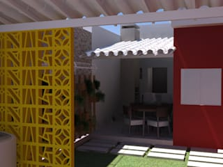 RESIDÊNCIA F&E - ÁREA DE LAZER por Nimbus | Arquitetura Moderno