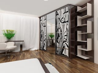 fitted wardrobe Bravo London Ltd Modern living room