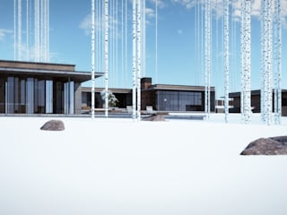 Hiên, sân thượng phong cách hiện đại bởi Студия дизайна интерьера в Москве 'Юдин и Новиков' Hiện đại