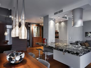 Nhà bếp phong cách hiện đại bởi Студия дизайна интерьера в Москве 'Юдин и Новиков' Hiện đại