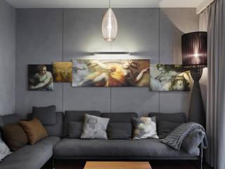 Студия дизайна интерьера в Москве 'Юдин и Новиков' Moderne Wohnzimmer
