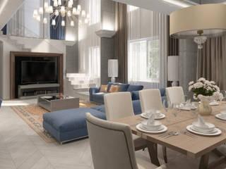 Студия дизайна интерьера в Москве 'Юдин и Новиков' Modern Yemek Odası