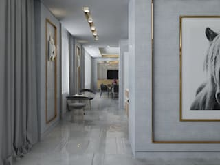 Студия дизайна интерьера в Москве 'Юдин и Новиков' Moderner Flur, Diele & Treppenhaus