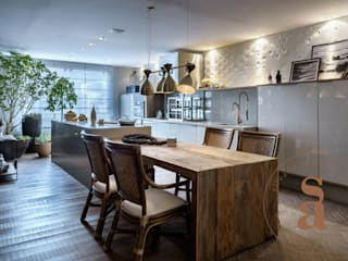 VARANDA GOURMET : Cozinhas  por silvana albuquerque arquitetura e design