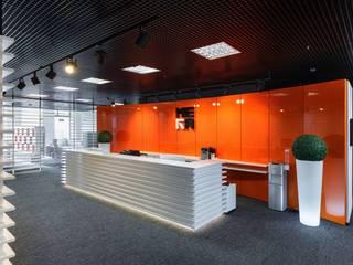 Bureau moderne par Студия дизайна интерьера в Москве 'Юдин и Новиков' Moderne