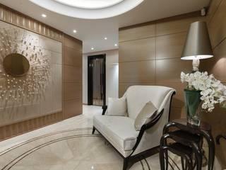 Salon moderne par Студия дизайна интерьера в Москве 'Юдин и Новиков' Moderne