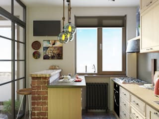 ДОМ СОЛНЦА Cocinas de estilo minimalista