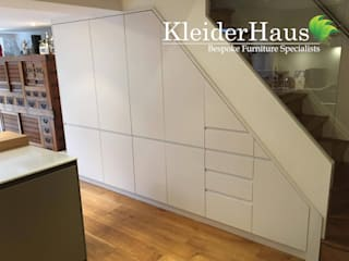 Made to Measure fitted Kitchen Under-Stairs unit:  Kitchen by Kleiderhaus ltd