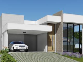 Projeto Arquitetura Residencial FL13 Casas modernas por arquiteto bignotto Moderno