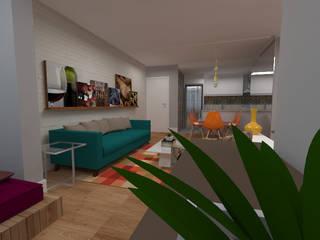 Sala Mariana e Thiago: Salas de estar  por Betth Garcia Arquiteta   Arquitetura e Design de Interiores   Projetos Consultoria e Assessoria,Moderno