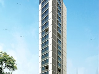 Inox Tower: modern Houses by Koncept Architects & Interior Designers,