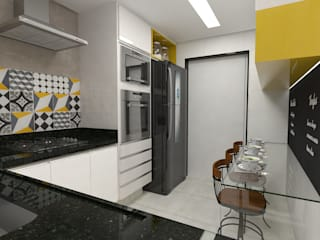 Impelizieri Arquitetura Modern Kitchen Yellow