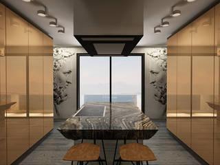 KONUT PROJESİ, ANTALYA Modern Mutfak Oda Tasarım İçmimarlık Modern