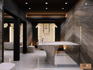 KONUT PROJESİ Modern Banyo Oda Tasarım İçmimarlık Modern