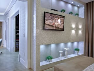 Casa Indaiatuba Quartos modernos por Designer de Interiores e Paisagista Iara Kílaris Moderno