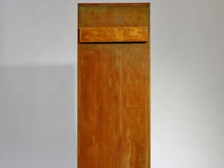 Briefkasten aus Stahl in rostigem Look:   von Metall & Gestaltung Dipl. Designer (FH) Peter Schmitz