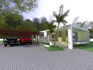 Minimalistische huizen van Arq Hernando Fuentes Diseños Minimalistisch