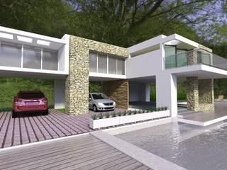 Arq Hernando Fuentes Diseños Case in stile minimalista Cemento Bianco
