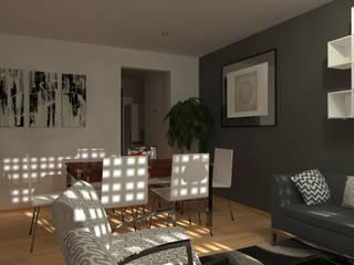 Vista Sala-Comedor:  de estilo  por FRACTAL estudio + arquitectura