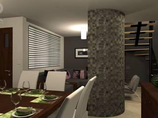Vista Comedor-Sala:  de estilo  por FRACTAL estudio + arquitectura