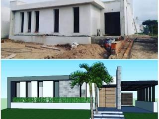 DEL PROYECTO A LA CONSTRUCCION 120m2: Casas de estilo moderno por LOSADA ARQUITECTURA