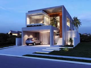 Sapucaias Home Casas modernas por Alessandra Duque Arquitetura & Interiores Moderno