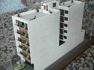 Maqueta Edificio Departamental:  de estilo  por Maquetas JCM