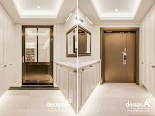 Classic style corridor, hallway and stairs by Design A3 Classic