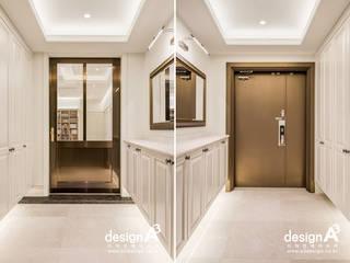 Klasyczny korytarz, przedpokój i schody od Design A3 Klasyczny