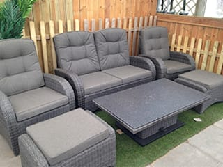 Reclining rattan furniture:   by Garden Centre Shopping UK