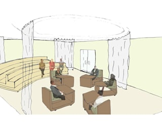 rechtbank van de toekomst: modern  door Lavelli interieurontwerp, Modern