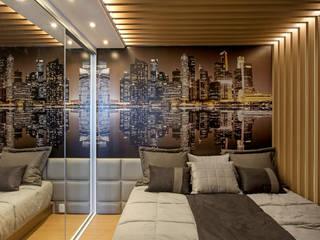 Apartamento Jundiaí: Quartos  por Designer de Interiores e Paisagista Iara Kílaris,Moderno Madeira Efeito de madeira