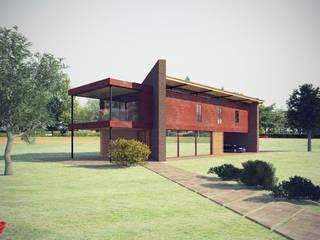 Rendering: Case in stile in stile Moderno di Studio Pinelli Architetti