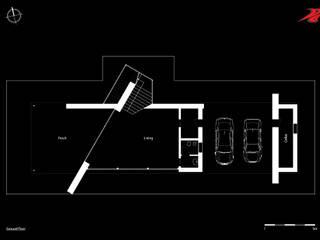 Pianta piano terra: Case in stile in stile Moderno di Studio Pinelli Architetti