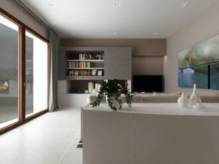 غرفة المعيشة تنفيذ De Vivo Home Design, حداثي