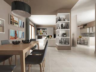 Casa AA: Soggiorno in stile  di De Vivo Home Design