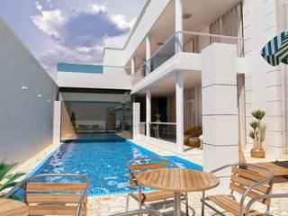 Residencia Portinari Vitruvius 3D Casas modernas Pedra Branco