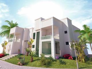 Residencia Portinari Vitruvius 3D Casas modernas Concreto Branco