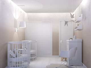 Twin Bedroom Project: Quartos de criança  por Santiago | Interior Design Studio
