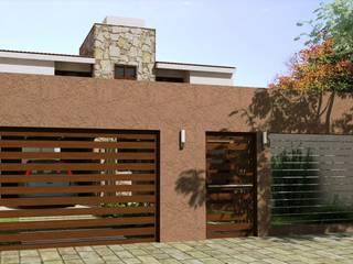 Proyecto de Remodelación y cambio de fachada Casas modernas: Ideas, imágenes y decoración de Valy Moderno Ladrillos