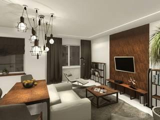 uncompromising single apartment in Bialystok, Poland by KOKON zespół architektoniczny Industrial