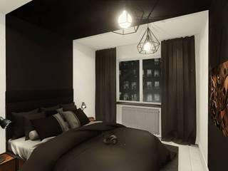 uncompromising single apartment in Bialystok, Poland Industrial style bedroom by KOKON zespół architektoniczny Industrial