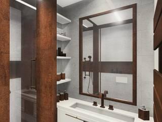 uncompromising single apartment in Bialystok, Poland Industrial style bathroom by KOKON zespół architektoniczny Industrial