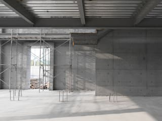 Pasillos, vestíbulos y escaleras modernos de 兆博建築 Moderno