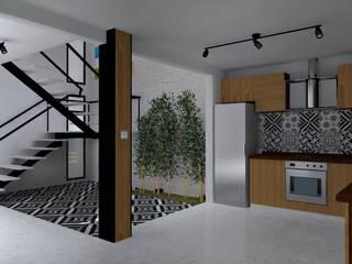 Cocina:  de estilo  por FRACTAL estudio + arquitectura