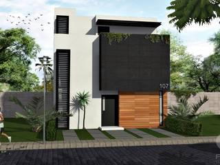 Fachada:  de estilo  por FRACTAL estudio + arquitectura