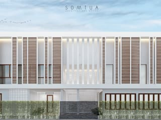 Thai tropical modern design Hostel project:   by somtua archiect and design